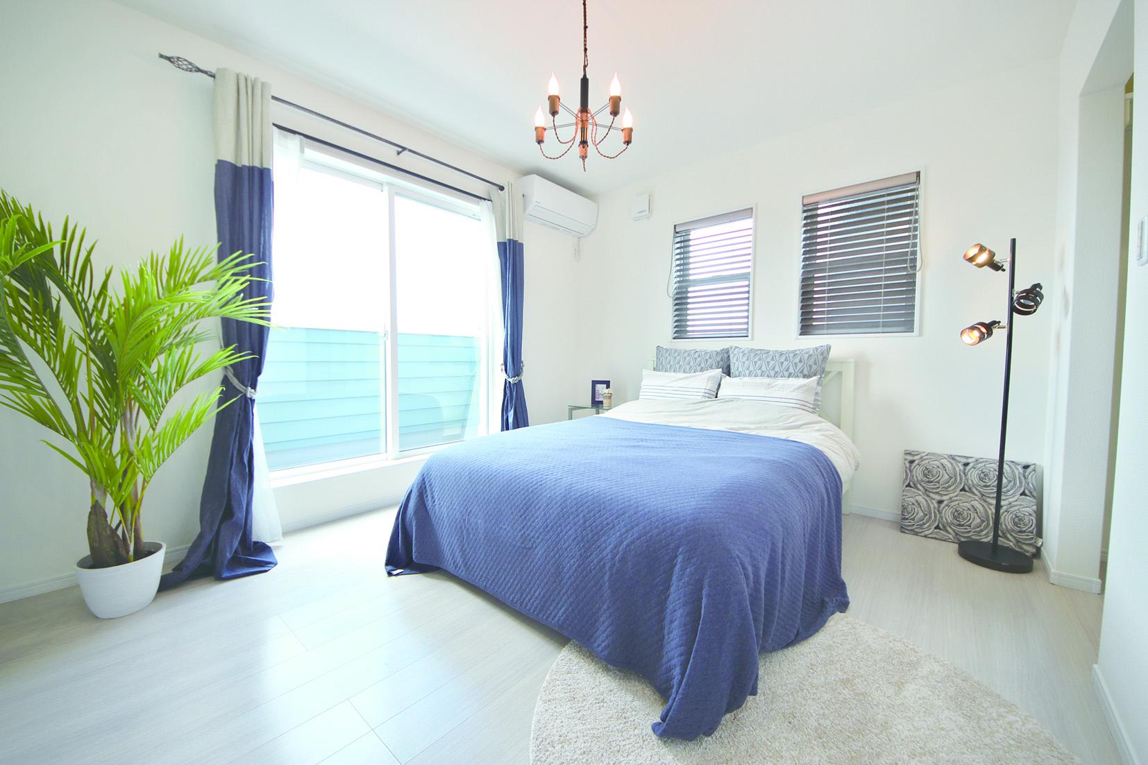 カリフォルニア風の寝室
