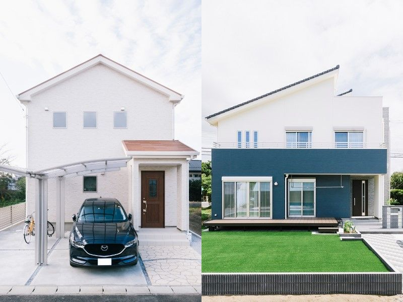 片流れ屋根と切り妻屋根の比較